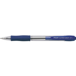 Penna a sfera a scatto Supergrip - blu - Tratto fine