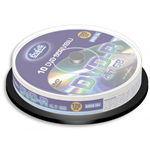 DVD-R - 4,7 GB - spindle da 10 - Silver