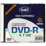 DVD-R - 4,7 GB - slim case - Stampabile inkjet