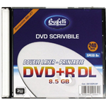 Buffetti - DVD+R DL - 8,5 GB - slim case - Stampabile inkjet