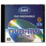 DVD+RW - 4,7 GB - jewel case - Silver