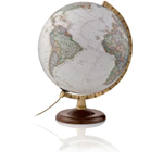 Mappamondo luminoso Globo Gold Executive - 30 cm - Cartografia antichizzata