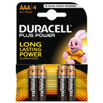 Pile Duracell Plus - ministilo - AAA - 1,5 V - conf. 4 pile